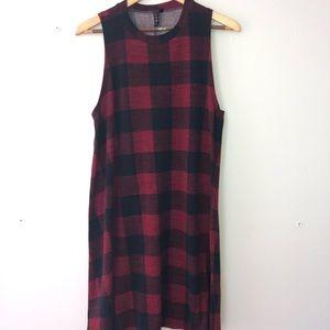 Three Hearts Plaid Dress